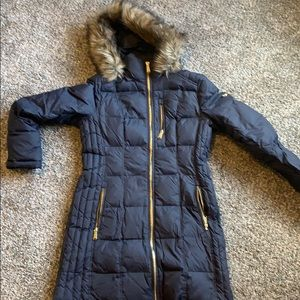 Michael Kors long winter down jacket- navy